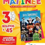 cinemex matinee 3 entradas por 45
