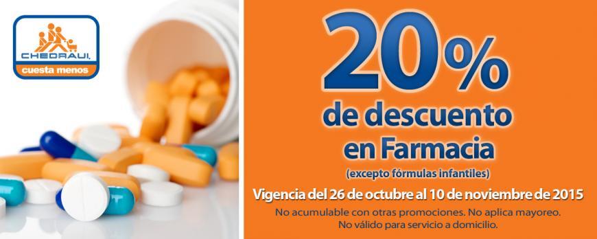 Chedraui: Nuevos cupones 20% de descuento en Farmacia y en todas las sábanas