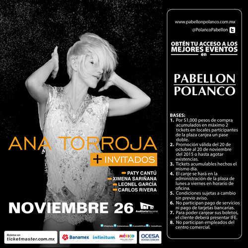Pabellón Polanco: Entradas gratis para Ana Torroja, Plácido Domingo, Sasha, Benny y Erik