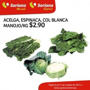 Soriana Mercado: 3 Días de Frescura en frutas y verduras del 13 al 15 de Octubre