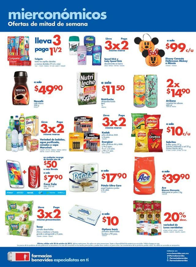 Farmacias Benavides: Promociones del Mierconómicos 28 de octubre