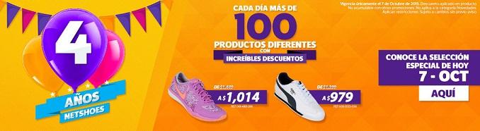 Netshoes: Más de 100 productos seleccionados con descuento cada día