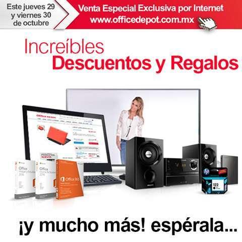 Office Depot: Venta especial 29 y 30 de Octubre gratis Bocinas Logitech con compra mínima