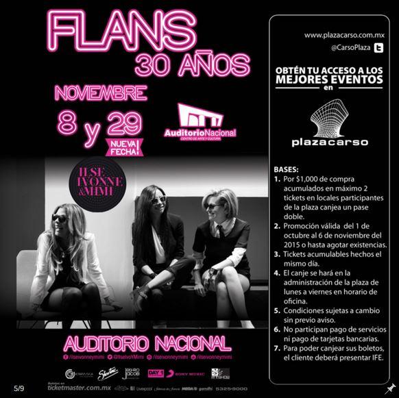 Plaza Carso: Entrada gratis para conciertos de Yuridia, Flans, Ana Torroja y más