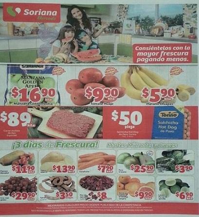 Soriana Mercado: 3 Días de Frescura con frutas y verduras del 6 al 8 de Octubre