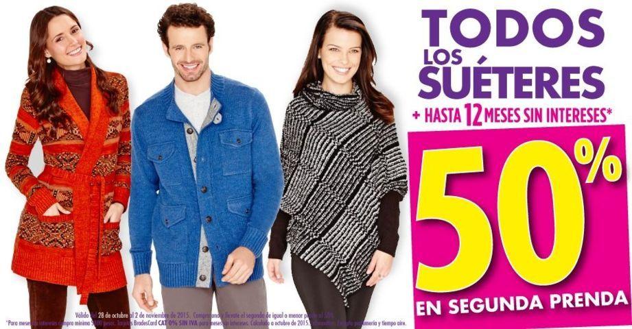 Suburbia: 50% de descuento en suéteres en tu segunda compra