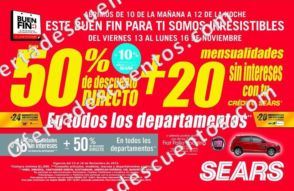 Promociones del Buen Fin 2015 en Sears