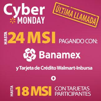 Walmart: Cyber Monday Hasta 24 Meses Sin Intereses y Envío