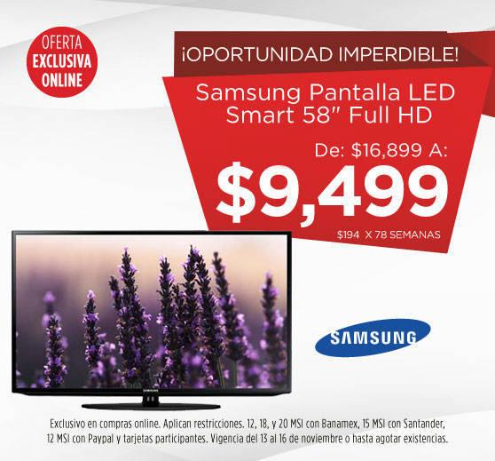 Elektra: Oferta del Buen Fin Pantalla Samsung 58″ a $9,499 y LG 32″ a $2,999