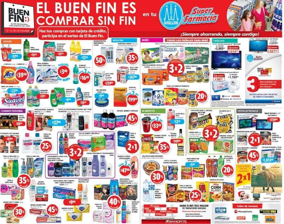 Folleto Promociones del Buen Fin 2015 Farmacias Guadalajara