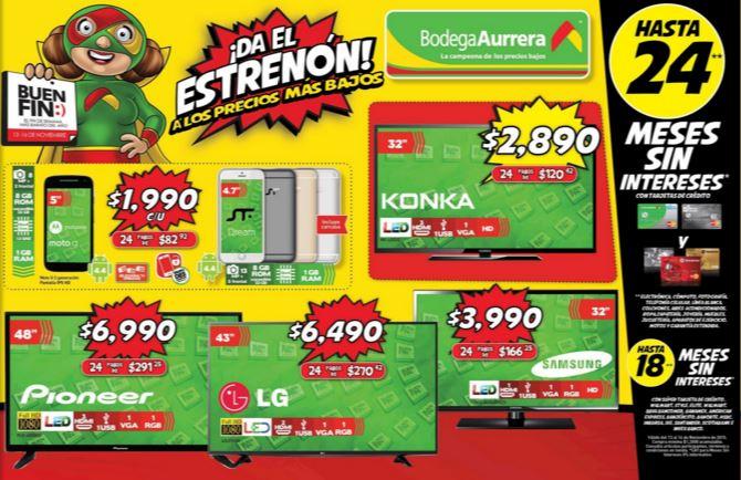 "Folleto de Promociones del Buen Fin 2015  en Bodega Aurrerá ""Da el Estrenón"""