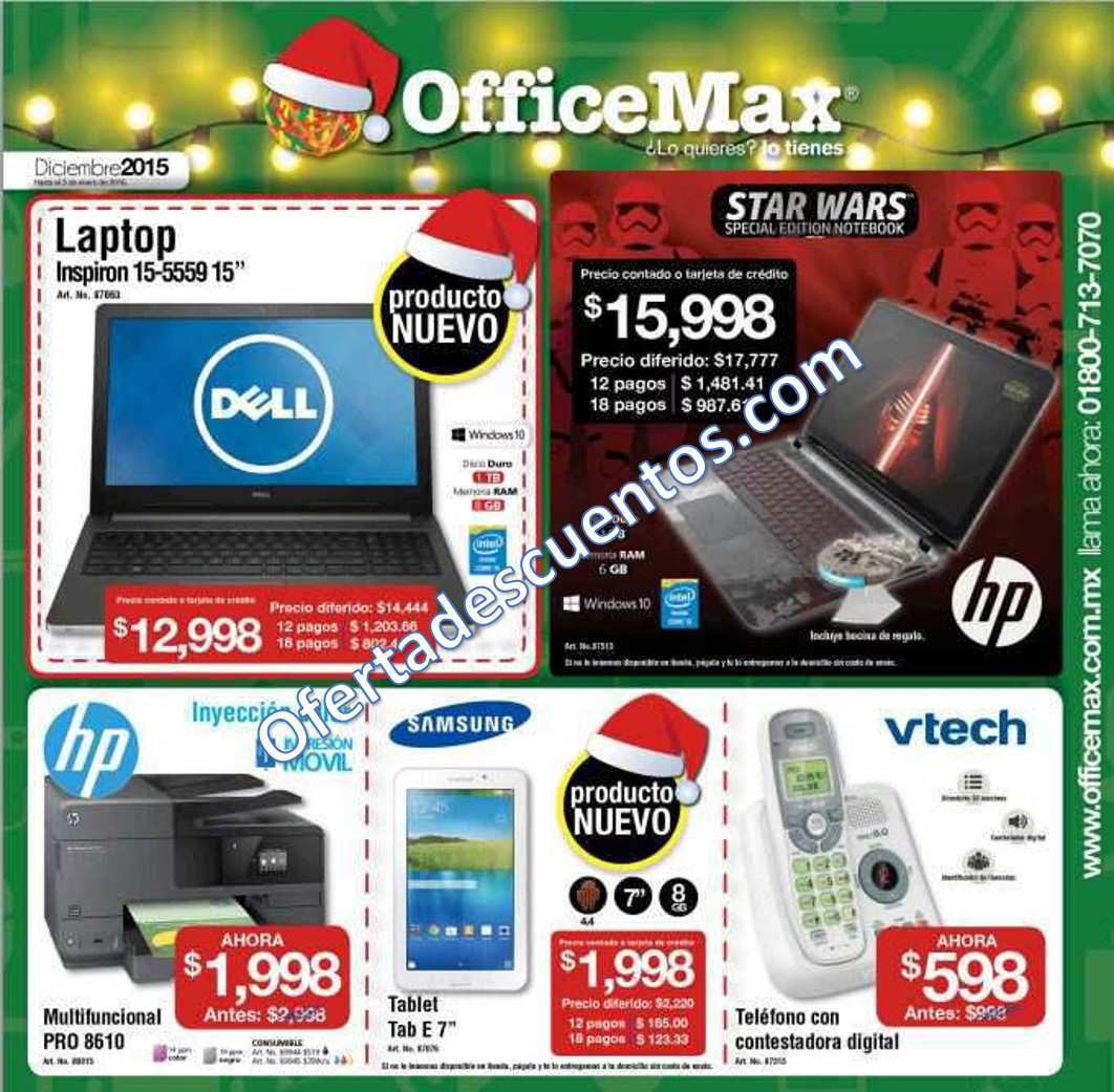 OfficeMax: Folleto de Ofertas de OfficeMax Diciembre 2015