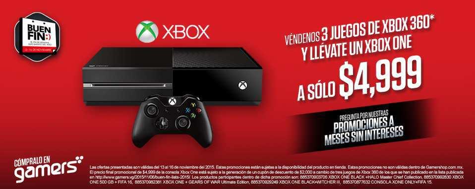 Gamers: Promociones del Buen Fin 2015 Xbox One a $4,999