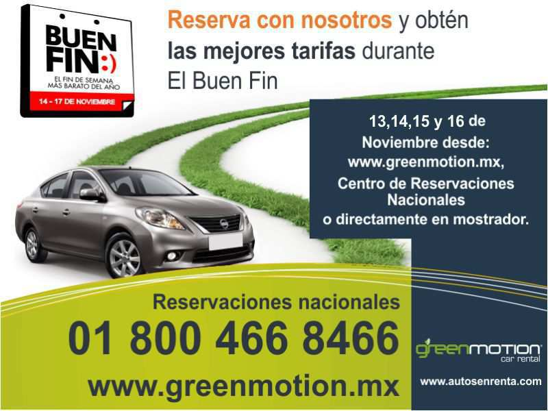 Promociones del Buen Fin 2015 Green Motion Car Rental