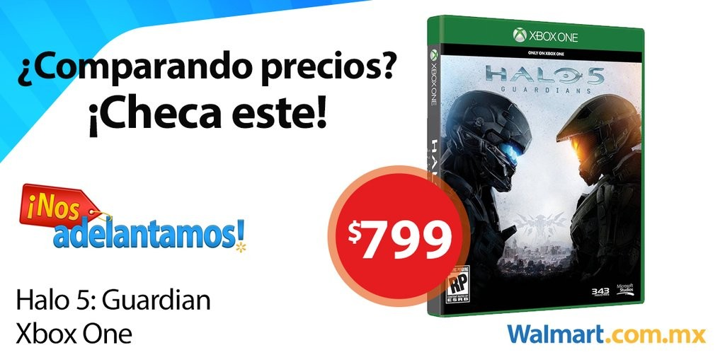 Walmart: Buen Fin 2015 Videojuego Halo 5 Guardians Xbox One a $799