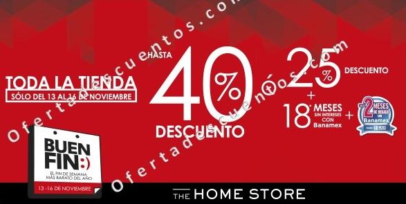 Home Store: Promociones del Buen Fin 2015 Hasta 40% de Descuento