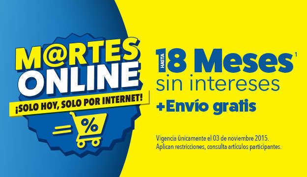 Best Buy: Martes Online 18 Meses Sin Intereses y Envío Gratis 3 de Noviembre