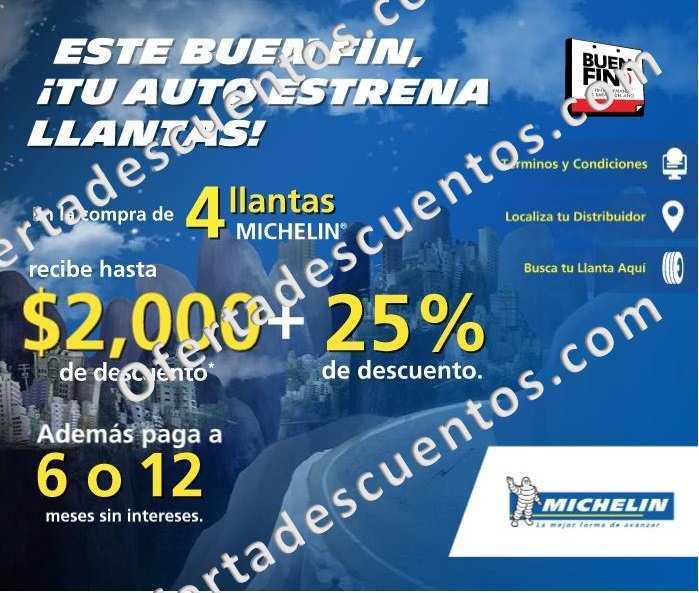 Michelin: Promociones del Buen Fin 2015 Hasta $2,000 en Descuentos