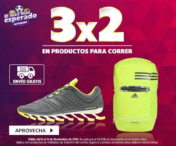 Netshoes: 3×2 en Productos Para Correr