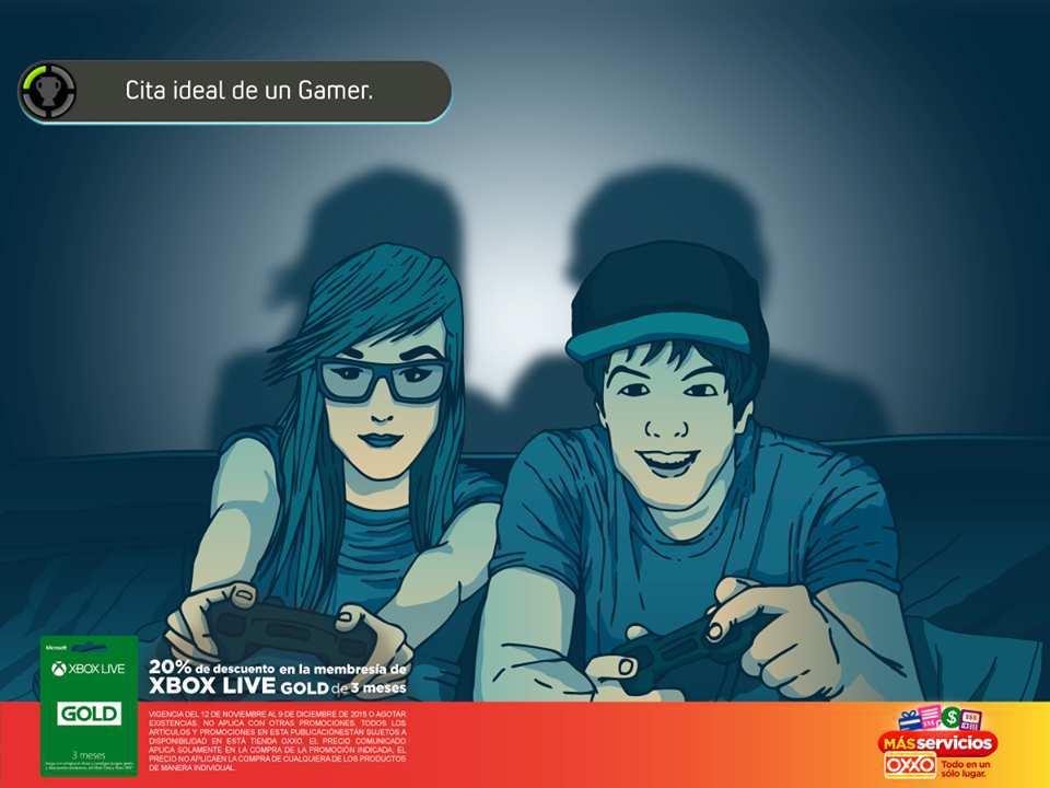 OXXO: 20% de Descuento en Xbox Live Membresía Gold de 3 Meses