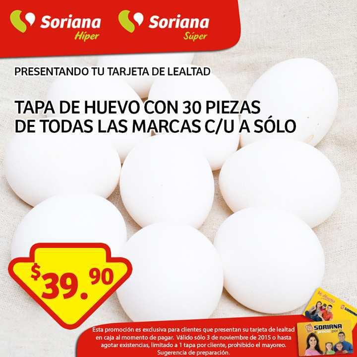 Soriana: Huevos a $39, Almohadas al 2×1 y Más
