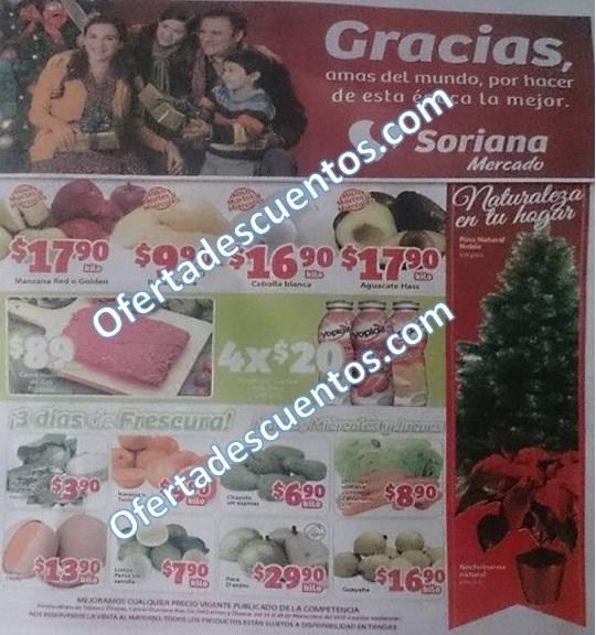 Soriana Mercado: Frutas y Verduras del 24 y 25 de Noviembre