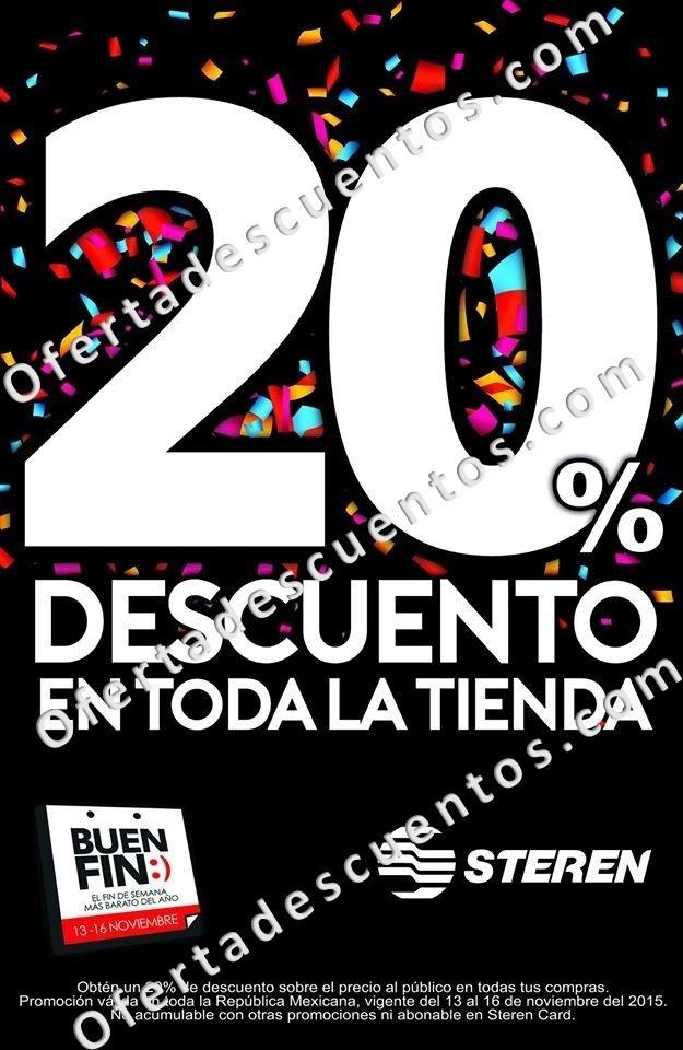 Steren: Promociones del Buen Fin 2015 20% de Descuento en Toda la Tienda