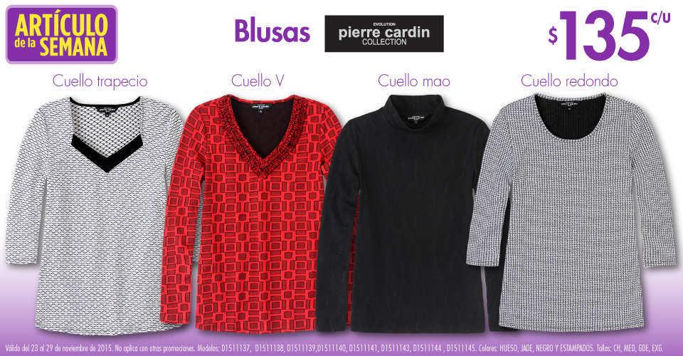 Suburbia: Artículo de la Semana del 23 al 29 de Noviembre Blusas Pierre Cardin a $135