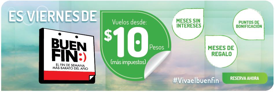 VivaAerobus: Promociones del Buen Fin 2015 Vuelos a $10