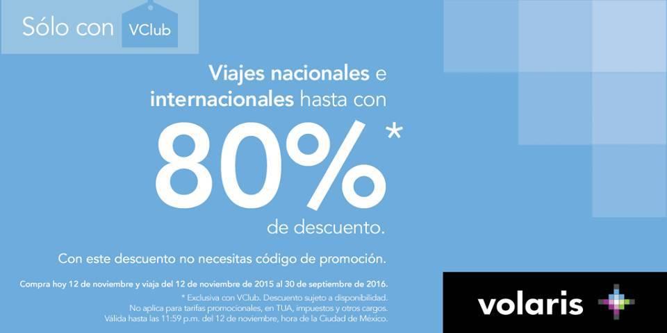Volaris: Promociones Buen Fin 2015 80% de Descuento en Viajes Nacionales
