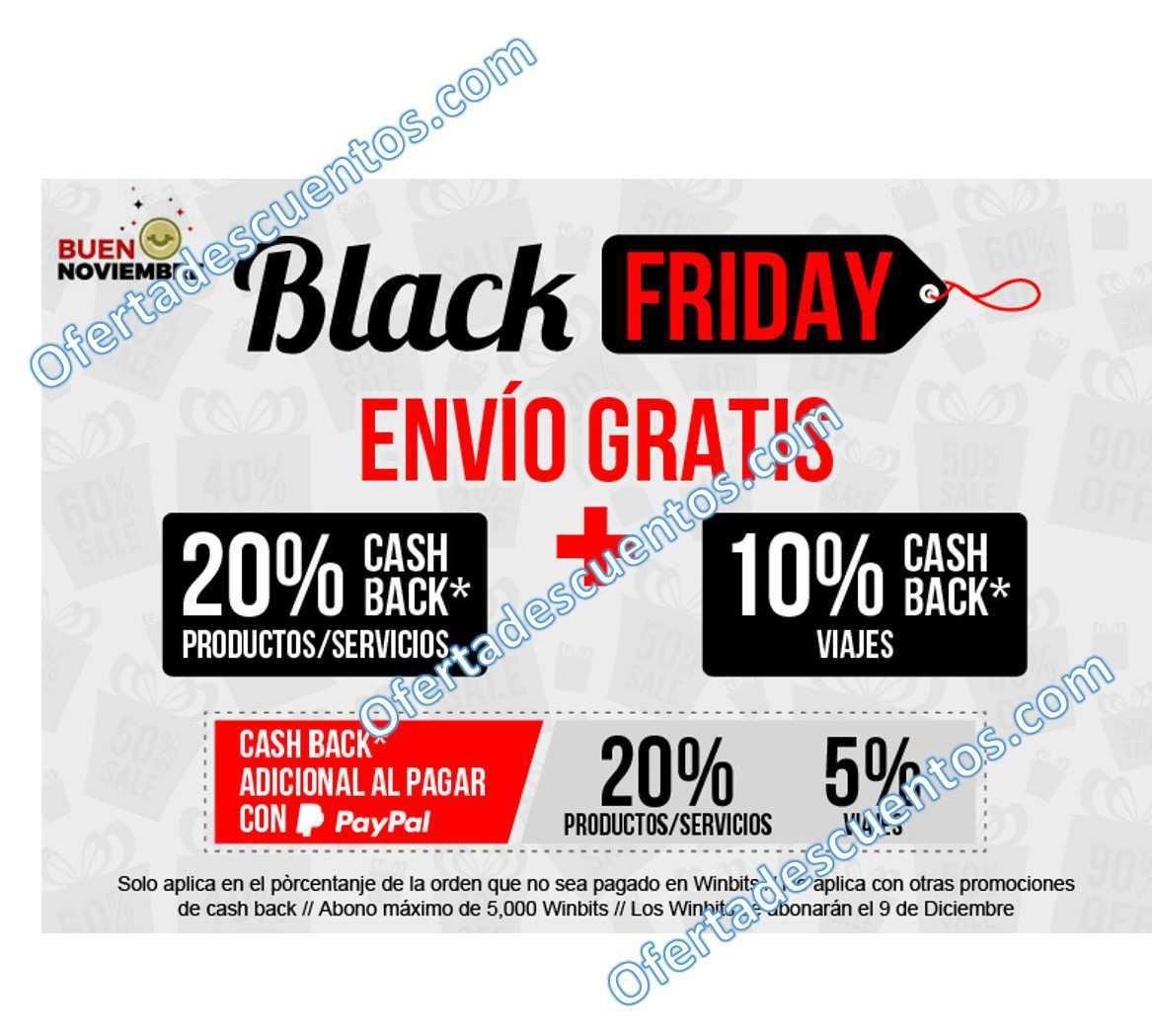 ClickOnero: Promociones del Black Friday 20% de bonificación y 20% adicional con PayPal