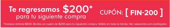 Promoción del Buen Fin 2015 en Linio: Cupón de $200 para segunda compra con compra mínima