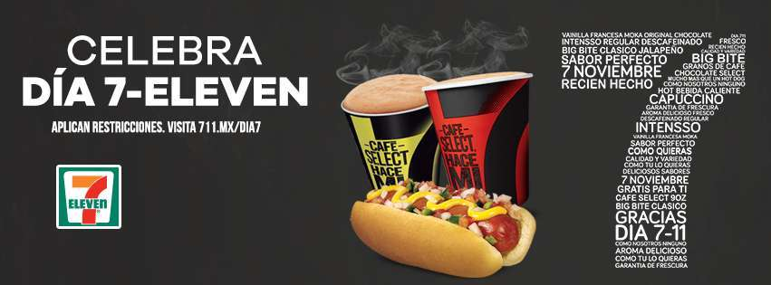 7Eleven: Big Bite o Café Select Gratis este 7 de Noviembre