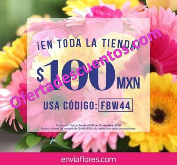 EnvíaFlores: Cupón de $100 de descuento en toda la tienda