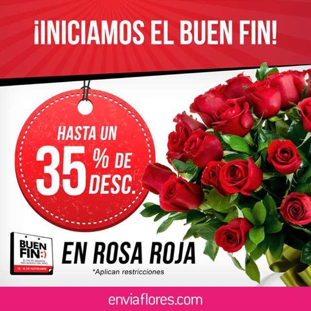 Envíaflores: Promociones del Buen Fin 2015 hasta 35% de descuento en rosas rojas y más