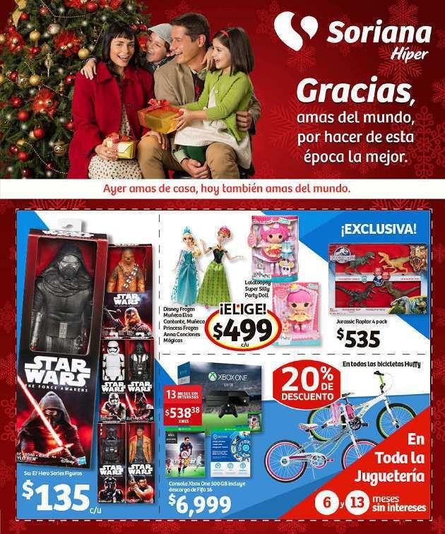 Soriana: Folleto de Ofertas del 20 de Noviembre al 3 de Diciembre 20% de descuento en bicicletas