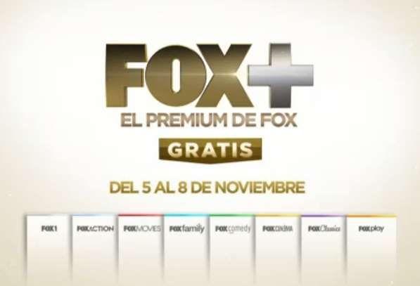 Tv de Paga: Canales de Fox+ Gratis del 5 al 8 de Noviembre