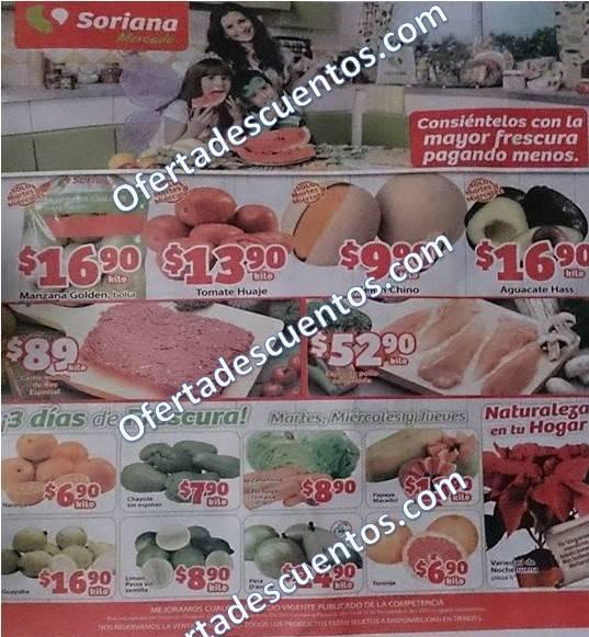 Soriana Mercado: Martes y Miércoles de Frutas y Verduras 10 y 11 de Noviembre