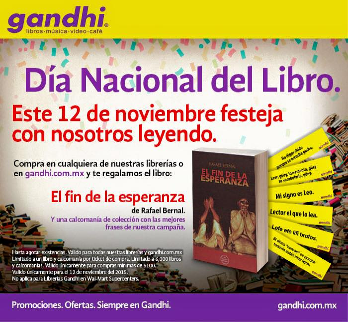 """Librerías Gandhi: Gratis Libro """"El Fin de la Esperanza"""" hoy 12 de Noviembre"""