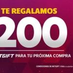 netshoes teregresa 200 en tareta netgift OFFDE