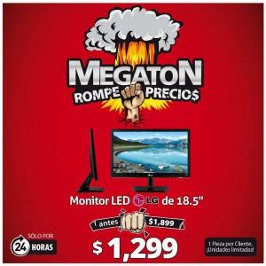 PCEL: Jueves Megatónico Monitor LG 18.5″ a $1,299 sólo hoy 19 de Noviembre