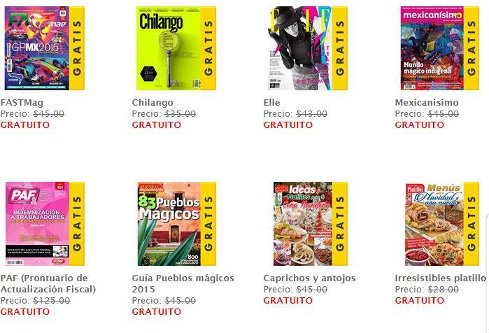 Sanborns: Revistas Digitales Gratis en Noviembre, Chilango, Elle y más