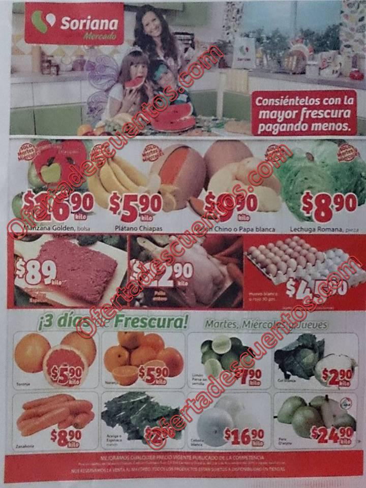 Soriana Mercado: Martes y Miércoles de frutas y verduras 3 y 4 de Noviembre