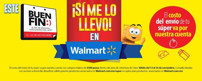 Walmart: Envío gratis de Súper durante Buen Fin 2015