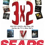 3x2 en cd, dvd blu ray en Sears