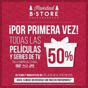Blockbuster – B-Store: 50% de Descuento en Todas las Películas