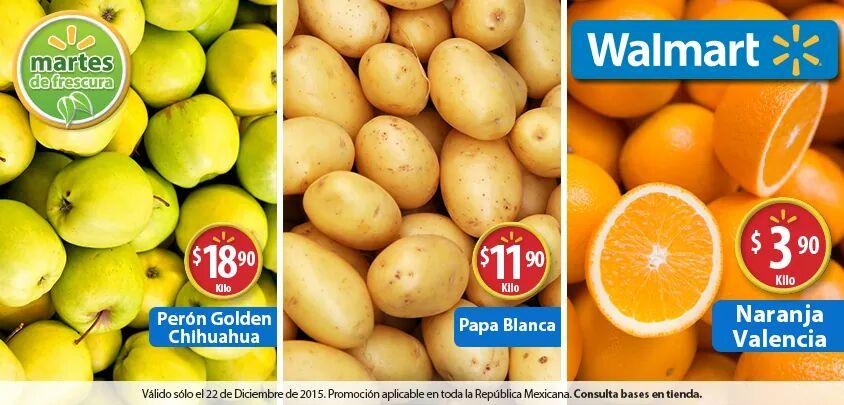 Walmart: Martes de Frescura Walmart 22 de Diciembre