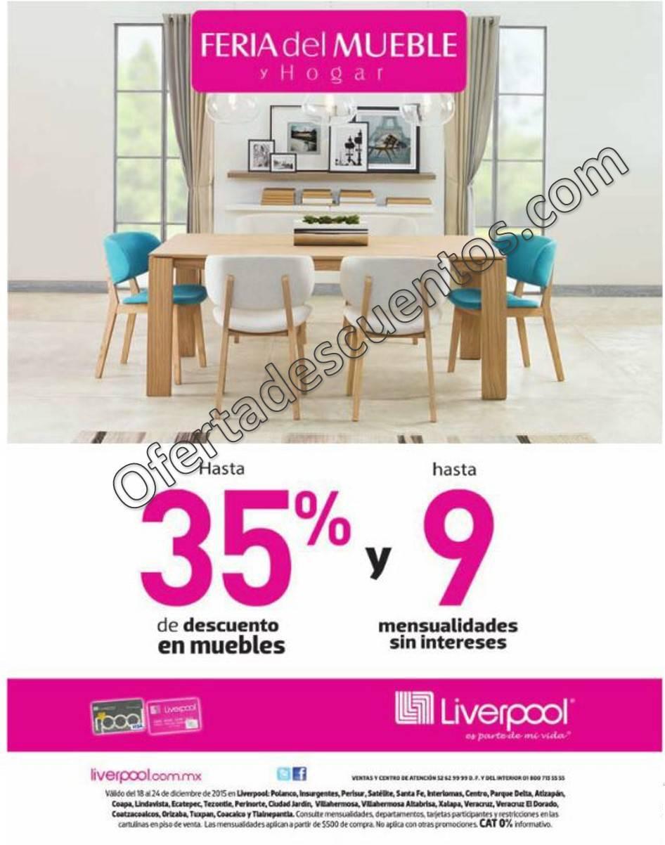 Liverpool feria del mueble del 18 al 24 de diciembre 2015 for Feria de muebles