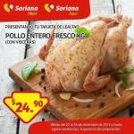 Tarjeta Lealtad Soriana Pollo Entero fresco 22 diciembre OFFDE OFFDE