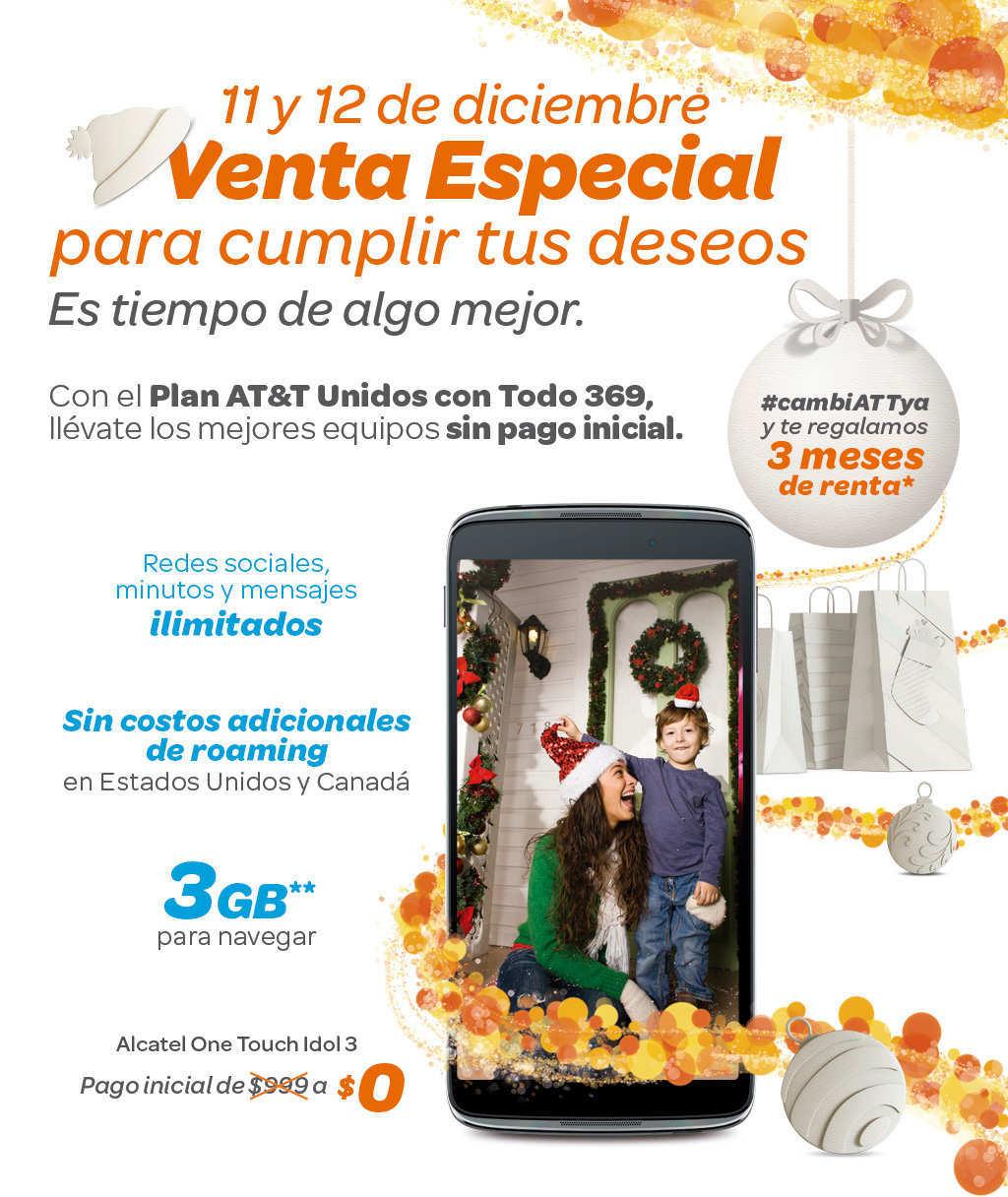 AT&T: Venta Especial 11 y 12 de Diciembre